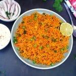 carrot coconut pulao